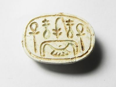 Zurqieh -Af673- Ancient Egypt ,2Nd Intermediate Stone Scarab. 1782 - 1570 B.c