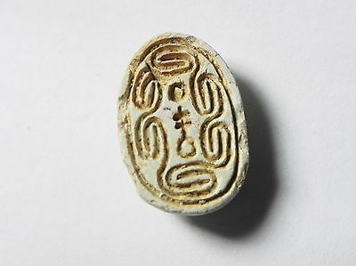 Zurqieh -Af675- Ancient Egypt ,2Nd Intermediate Stone Scarab. 1782 - 1570 B.c