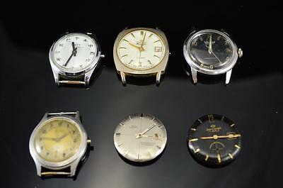 *k 6 VINTAGE WATCHES FOR PARTS OR REPAIR! SOLD AS IS