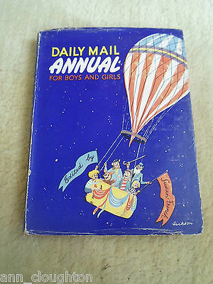 RARE Vintage Retro Book DAILY MAIL ANNUAL FOR BOYS + GIRLS Circa 1953