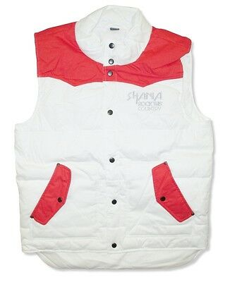 Shania Twain Rock This Country Tour Ladies White Puffer Vest New Official