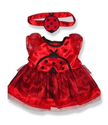 "Ladybird ladybug Costume Teddy Clothes to fit 15"" (40cm) Build a Bear"
