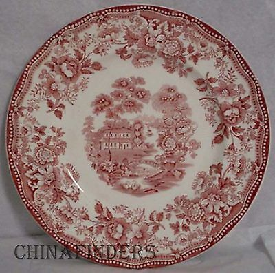 """ROYAL STAFFORDSHIRE china TONQUIN Red/Pink pattern Salad Plate @ 7-7/8"""""""