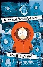 SOUTH PARK ~ MANY DEATHS KENNY 22x34 CARTOON POSTER Southpark