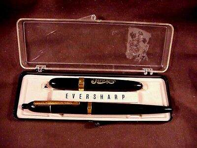 "EVERSHARP ""RETRACTABLE"" BLACK BALLPOINT/ EVERSHARP ""KIMBERLY"" PEPSI AD BP, c1949"