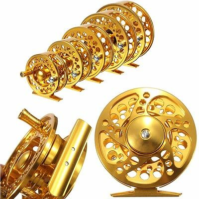 Golden 2+1BB CNC Aluminum Hardy Fly Fishing Reel Disk Drag River Trout