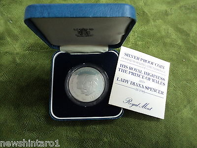 #c18.  1981  Charles &  Diana Great  Britain Silver  Proof  Coin