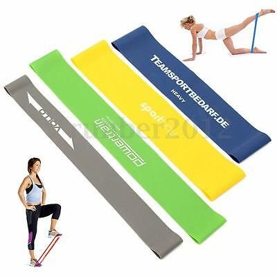4pcs/Set Yoga Exercise Tension Band Belt Crossfit Training Fitness Latex Stretch