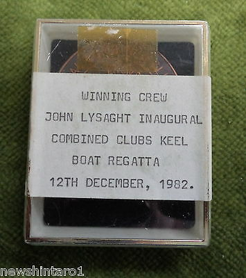 #d275. 1982  Inaugural Combined Clubs Keelboat Regatta Medal