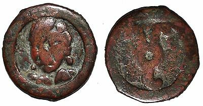 (4076) Samarqand Soghd, Anepigraphic AE coin, Unknown ruler.