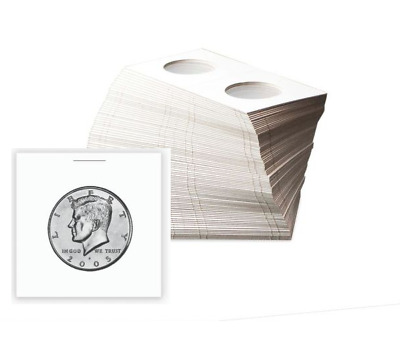 (100) BCW Half Dollar Paper Flips 2x2 Coin Holders Archival Safe Protection
