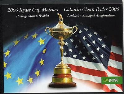 Ireland 2006 Ryder Cup Matches €12.00 Booklet Sp5