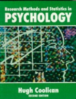 RESEARCH METHODS AND STATISTICS IN PSYCHOLOGY., Coolican, Hugh. Hardback Book