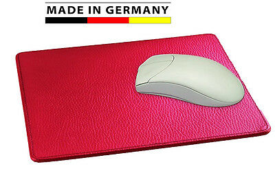 Made in Germany Mousepad-weiches genarbtes Rindnappaleder, in 13 Farben