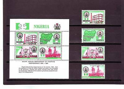 a119 - NIGERIA - SG495-MS499 MNH 1985 25th ANNIV INDEPENDENCE