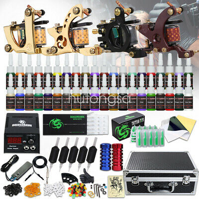Tätowierung Tattoo Kit Komplett Tattoo Set 4 Tattoo maschine 50 Nadeln 40 Inks H