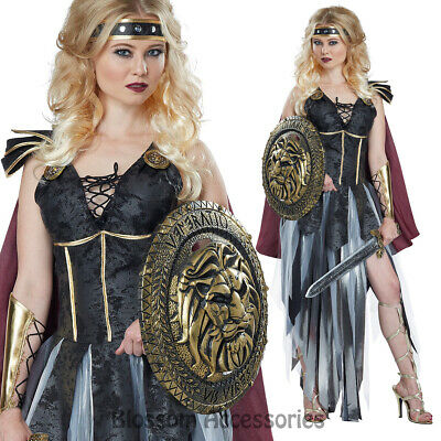 CA55 Glamorous Roman Gladiator Medieval Spartan Warrior Women Dress Up Costume