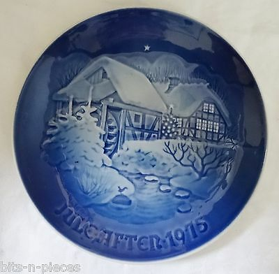 Bing & Grondahl  wall plate 1975   CHRISTMAS AT THE OLD WATER MILL