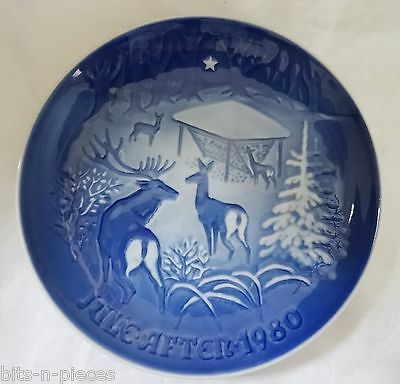Bing & Grondahl  wall plate 1980   CHRISTMAS IN THE WOODS