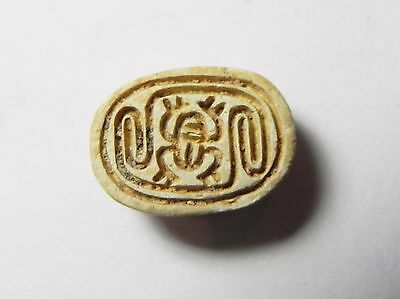 Zurqieh -Af686- Ancient Egypt ,2Nd Intermediate Stone Scarab. 1782 - 1570 B.c
