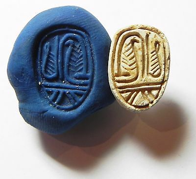 Zurqieh -Af698- Ancient Egypt ,2Nd Intermediate Stone Scarab. 1782 - 1570 B.c • CAD $171.48