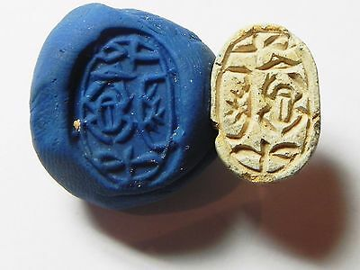 Zurqieh -Af700- Ancient Egypt ,2Nd Intermediate Stone Scarab. 1782 - 1570 B.c