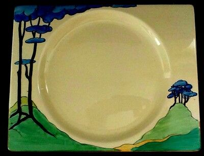 "CLARICE CLIFF ""Blue Firs""  Dinner 25 CM PLATE"