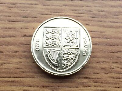 2009 £1 Coin - Shield of Arms - One Pound BRILLIANT UNCIRCULATED BU UNC