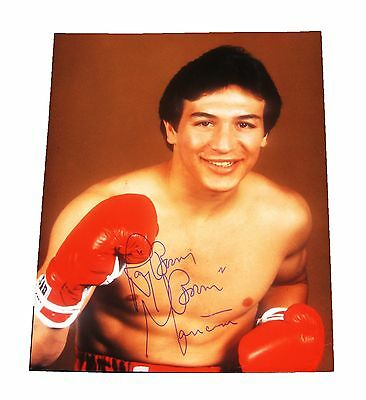 Ray Boom Boom Mancini Hand Signed Autographed 8X10 Photo With Psa/Dna Letter Coa