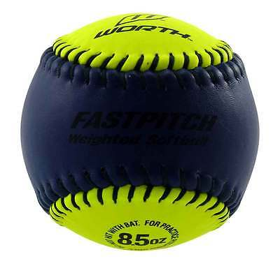 Worth Weighted 8.5 Ounce Training Softball To Build Arm Strength