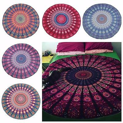 Hot Indian Mandala Tapestry Wall Hanging Throw Hippie Bedspread Twin Blanket Mat
