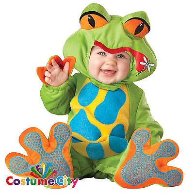 Babys Toddlers Green Little Froggy Frog Halloween Animal Fancy Dress Costume