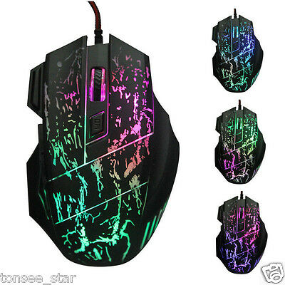 COOL 5500 DPI 7D Buttons LED Wired Gaming-Maus Mäuse Mouse Mice For PC Laptop
