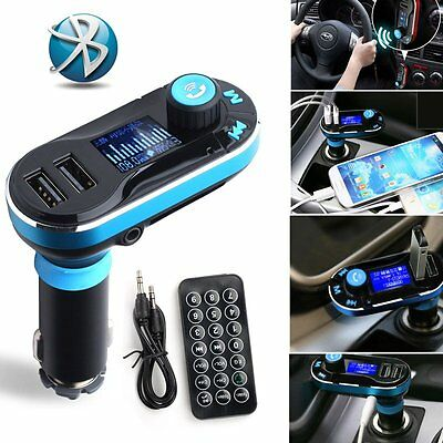 Bluetooth Car Kit FM Transmitter USB Charger Adapter Handsfree for Cellphone