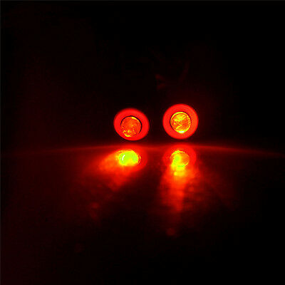 2Leds 5mm Yellow+Red Angel & Demon Eyes LED Headlight Back Light for 1/10 RC Car