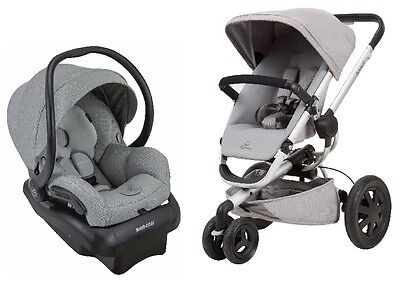 Quinny Buzz Xtra Travel System Baby Stroller w/ Mico 30 Infant Car Seat & Base G