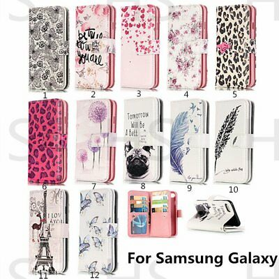 Magnetic 9 Card Wallet Flip PU Leather Phone Case Cover For Samsung Galaxy
