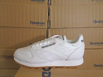 Mens Reebok Classic Leather White-Gum <49797>