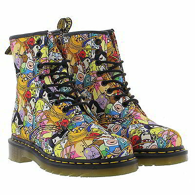 Dr Martens Castel Toon 1460 Adventure Time 8 Eye Canvas Boots Size 4-8