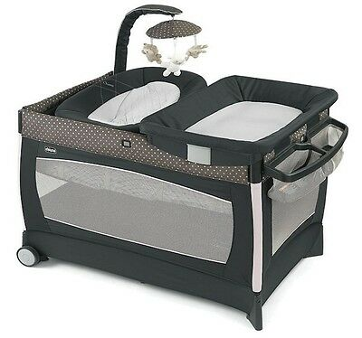 Chicco Lullaby 3 Stage Portable Playard Crib Bassinet Changing Table Lilla NEW