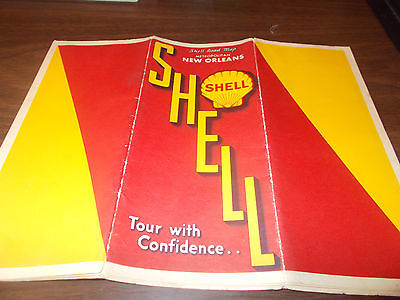 1934 Shell New Orleans Vintage Road Map