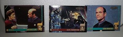 Star Trek Voyager  - Seven of Nine & The Doctor x 3 Trade Cards 63, 64 & 65