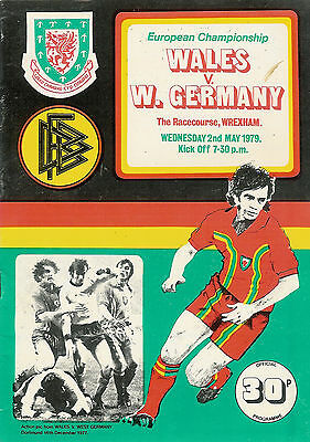 Wales vWest Germany - European Championship 2 May 1979  FOOTBALL PROGRAMME