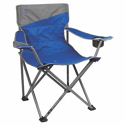 Coleman Camping Outdoor Beach Folding Big-N-Tall XL Oversized Quad Chair, Blue