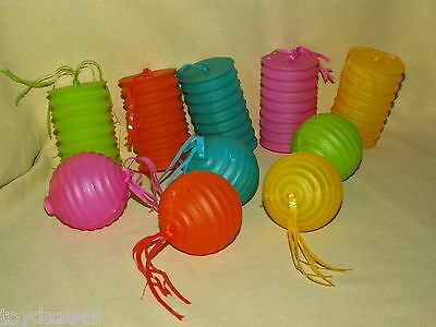 Tiki Light Covers Plastic Used Cylinder Round Ornament Party Patio RV Streamers