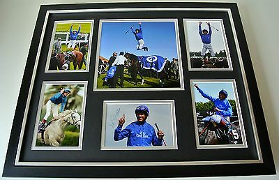 Frankie Dettori SIGNED FRAMED Photo Autograph Huge display Horse racing & COA