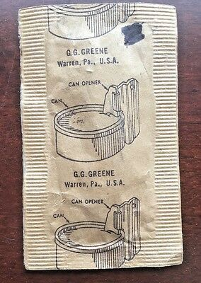 G.G. Greene Warren, PA USA Sealed Can Opener in Brown Envelope,G.I.Gear