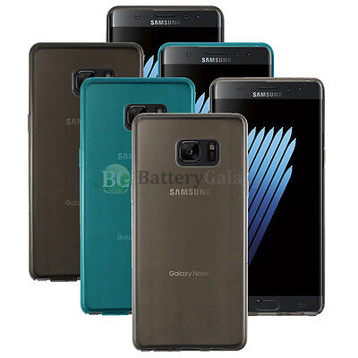 NEW Lot of 3 Black/Blue/Clear Soft Case for Android Phone Samsung Galaxy Note 7