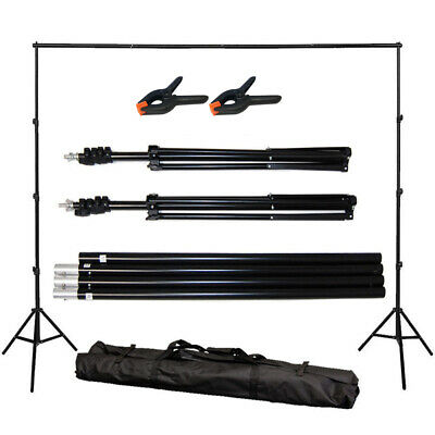 Adjustable Photography 10Ft Background Backdrop Support Stand Photo  Crossbar Ki