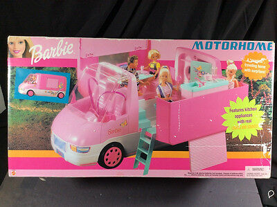 Nib Barbie Doll 2000 Magical Traveling Motorhome Real Lights & Sounds Sealed